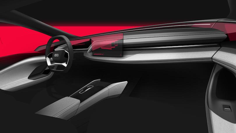 interni di Audi A6 e-tron concept
