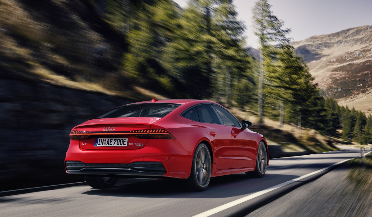 Audi A7 Sportback PHEV rossa
