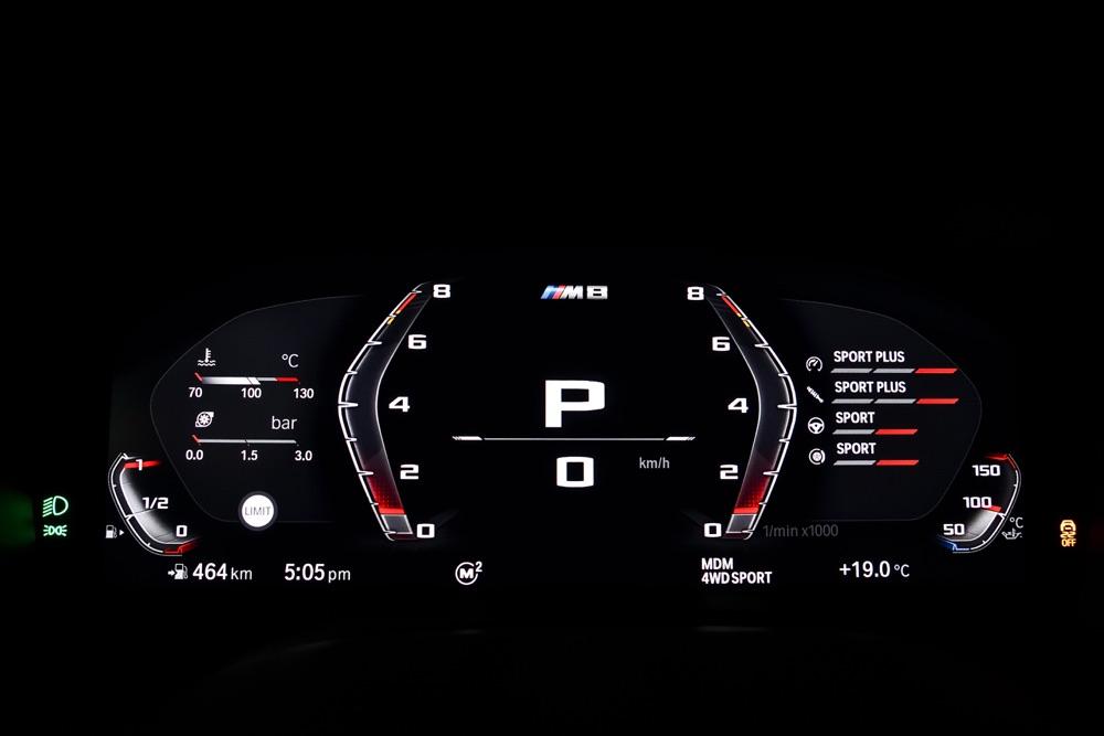 Strumentazione di BMW M8 2019
