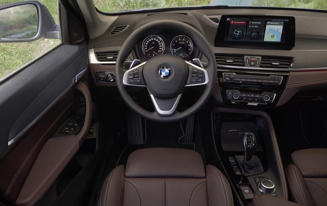 Infotainment di BMW X1 restyling 2019