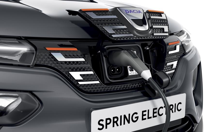Ricarica di Dacia Spring elettrica