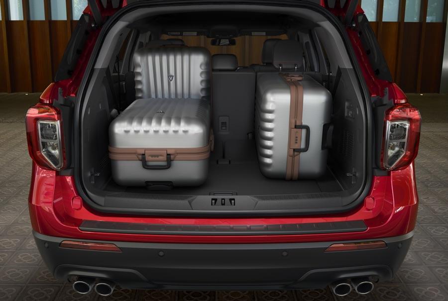 Bagagliaio di Ford Explorer ibrida
