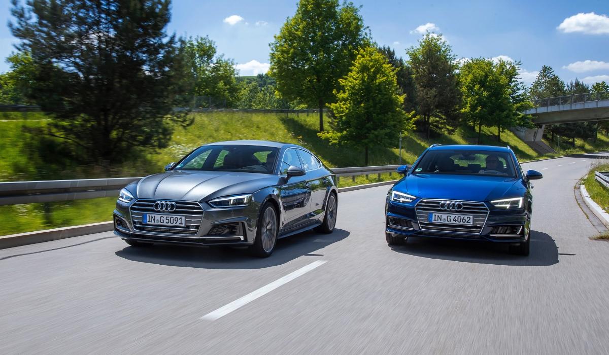 Nuova Audi A4 Avant g-tron e nuova Audi A5 Sportback g-tron su strada
