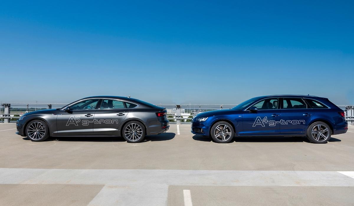 Nuova Audi A4 Avant g-tron e nuova Audi A5 Sportback g-tron