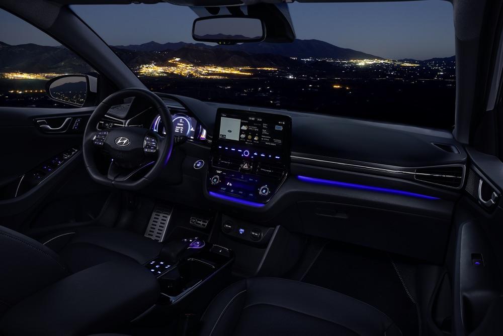 Display di Hyundai Ionic elettrica 2019