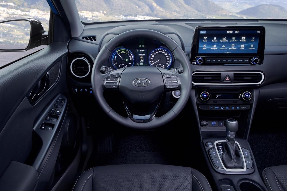 Infotainment di Hyundai Kona ibrida 2019