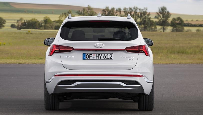 Bagagliaio di nuova Hyundai Santa Fe