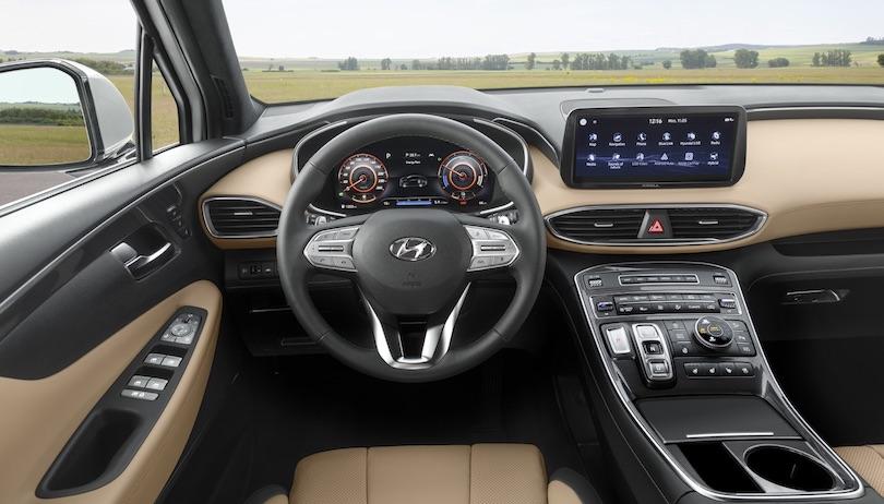 Infotainment di nuova Hyundai Santa Fe