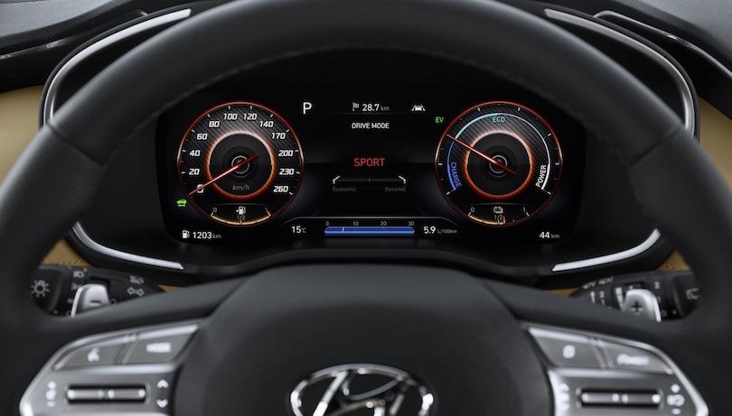 Strumentazione di nuova Hyundai Santa Fe