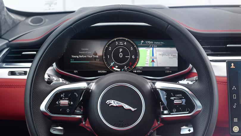 Strumentazione di Jaguar F-Pace restyling