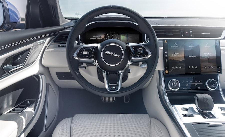 Infotainment di Jaguar XF 2021