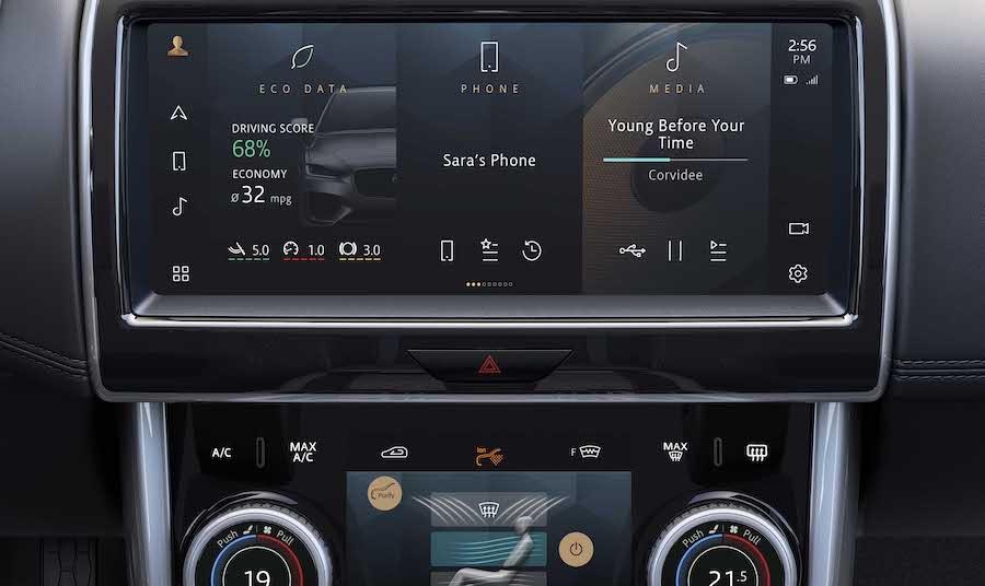 Jaguar XE infotainment Pivi Pro