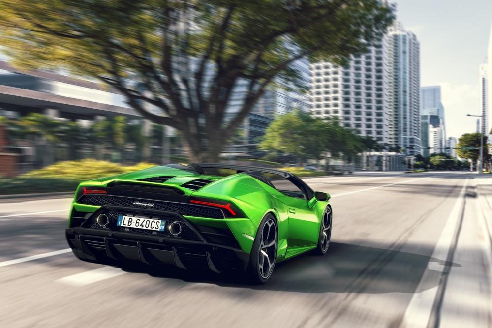 Lamborghini Huracan Evo Spyder, scheda tecnica