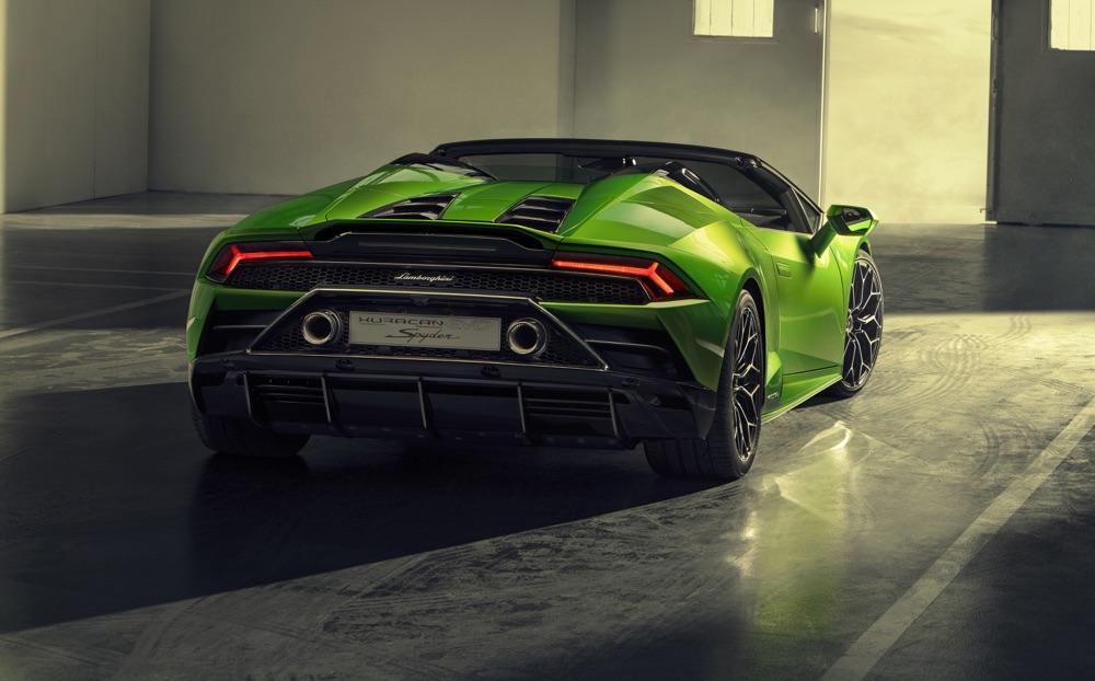 Scarichi di Lamborghini Huracan Evo Spyder