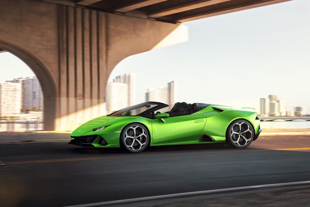Uscita di Lamborghini Huracan Evo Spyder