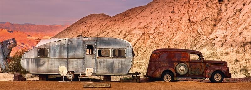 1946 Ford Panel, Van, Nevada, USA Photo © 2019 Dieter Klein