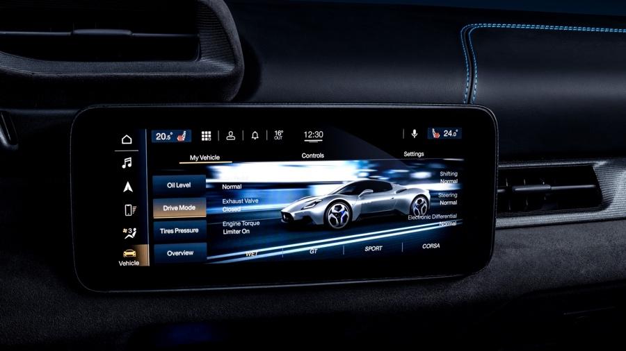 Infotainment di Maserati MC20