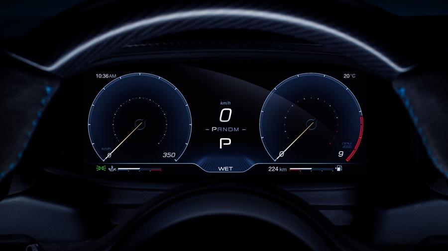 Strumentazione di Maserati MC20