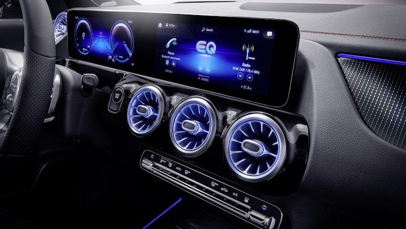 Mercedes EQA infotainment