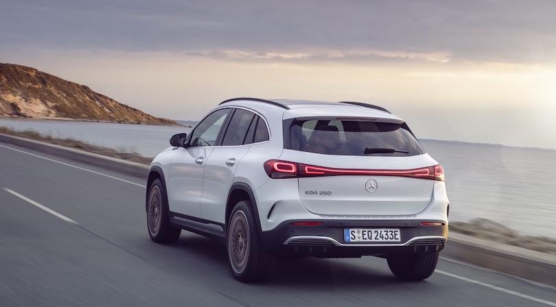 tempi di ricarica di Mercedes EQA