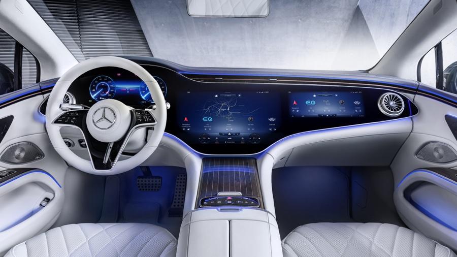 Abitacolo di Mercedes EQS