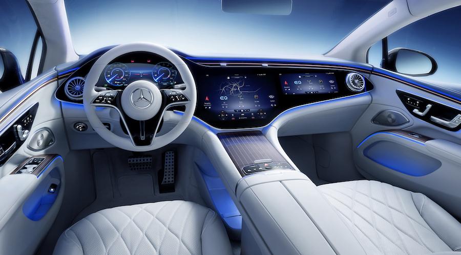 Interni di Mercedes EQS