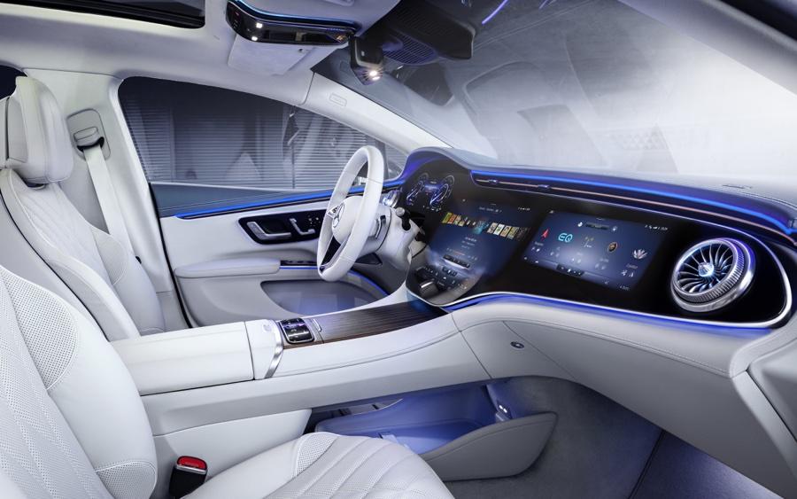 Plancia di Mercedes EQS