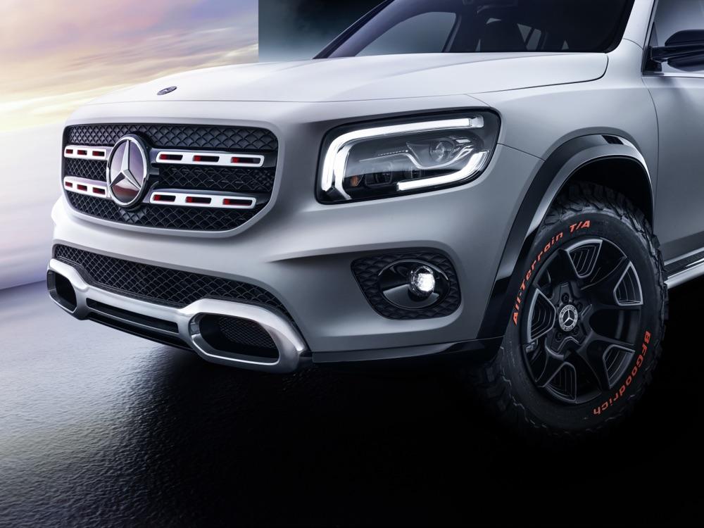 Mercedes GLB Concept fari Multibeam led