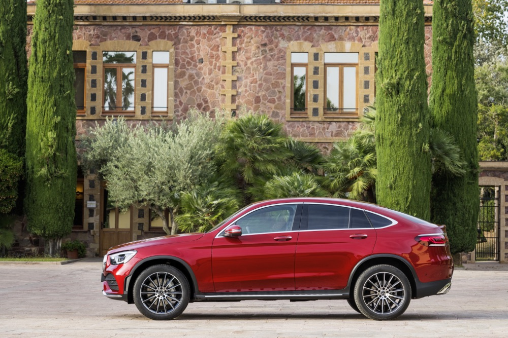 Restyling di Mercedes GLC Coupé 2019