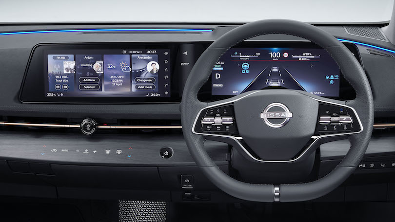 Posto guida di Nissan Ariya