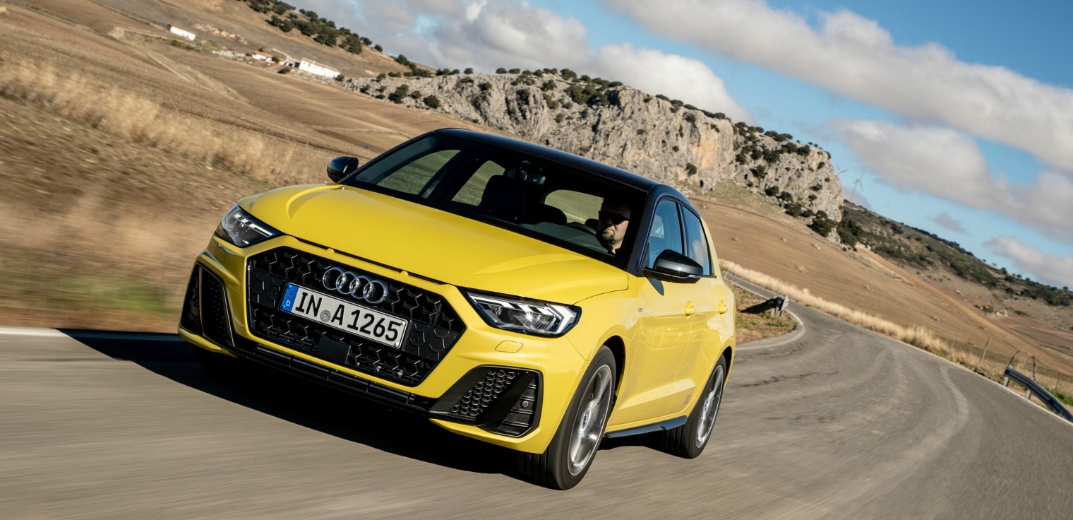 Audi A1 Sportback gialla