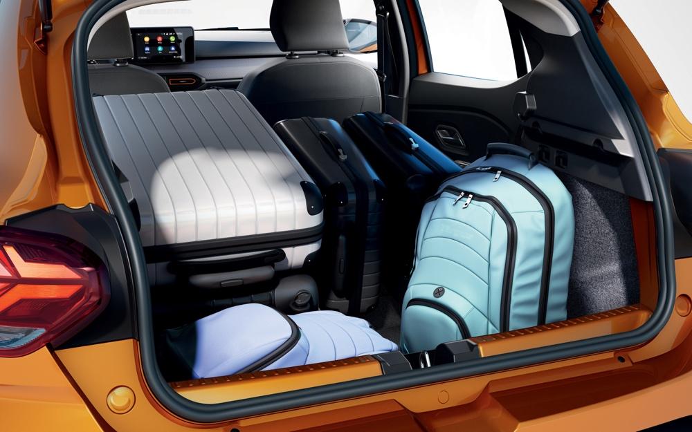 Nuova Dacia Sandero bagagliaio