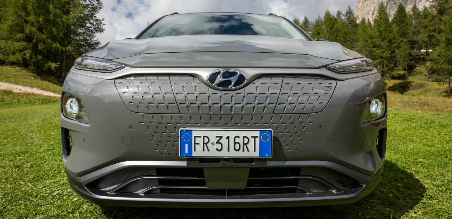 Frontale nuova Hyundai Kona Electric