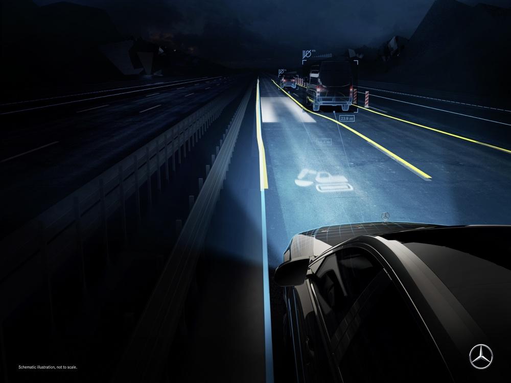 Digital Light su nuova Mercedes Classe S