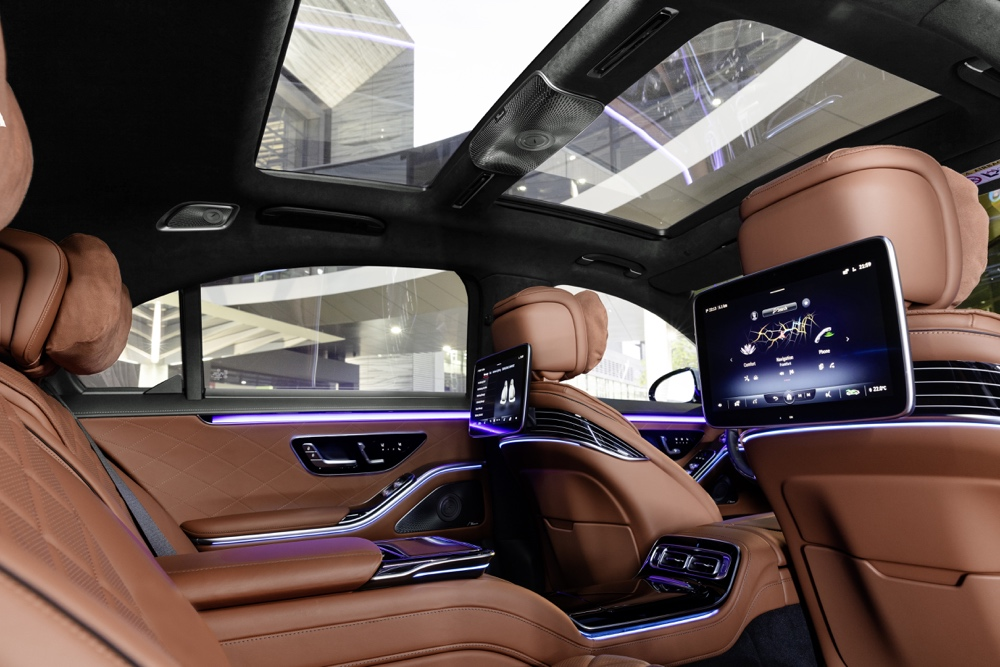 Interni di nuova Mercedes Classe S
