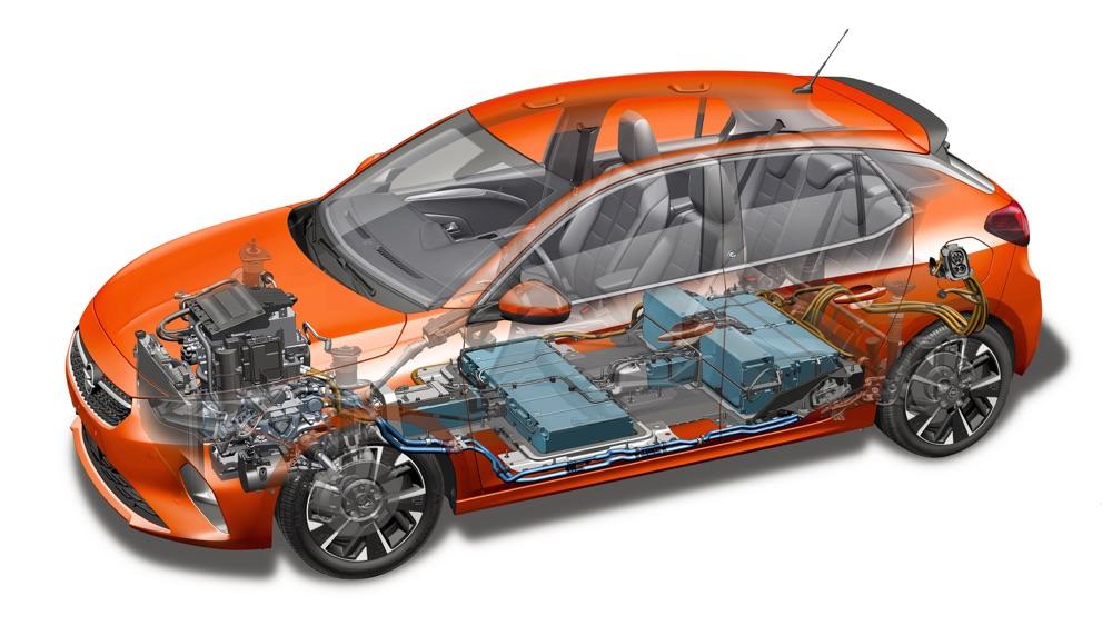 Batteria di Nuova Opel Corsa-e
