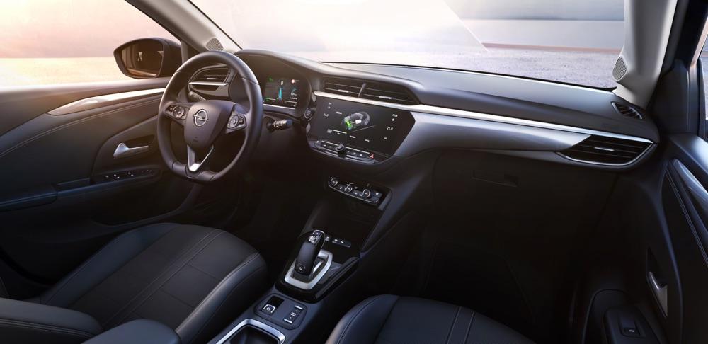 Interni di Nuova Opel Corsa elettrica