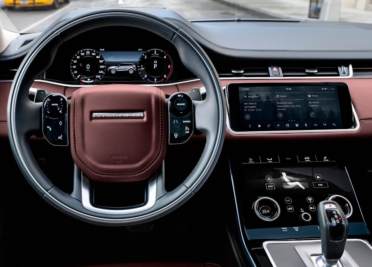 Abitacolo di nuova Range Rover Evoque