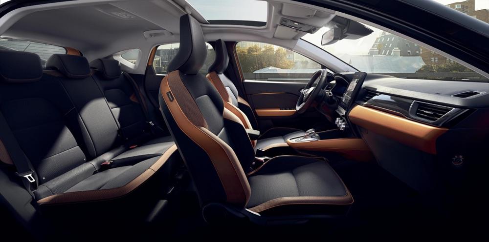 Tetto panoramico di nuova Renault Captur