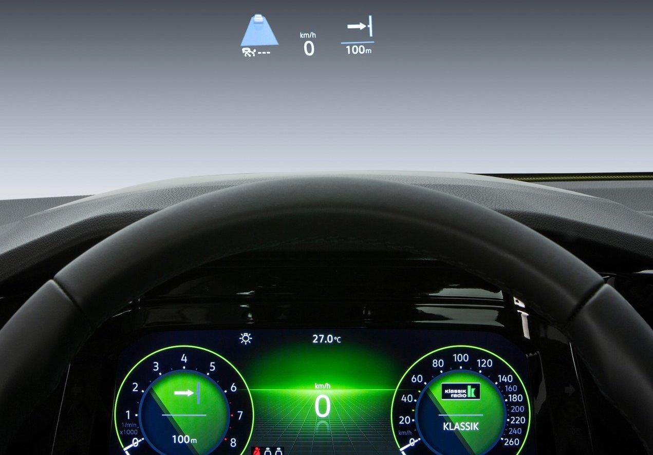 Head up display su Volkswagen Golf 8