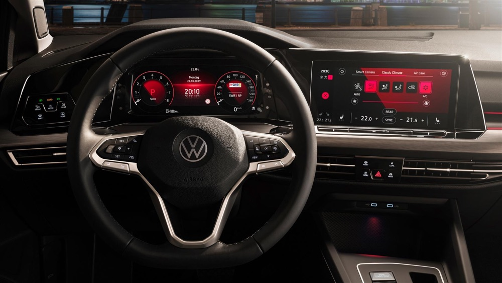 Infotainment di Volkswagen Golf 8