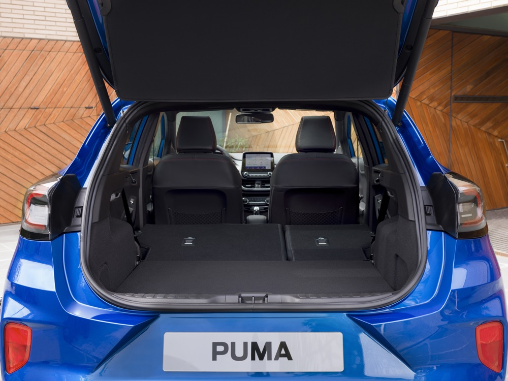 Capacità di carico di Ford Puma 2019
