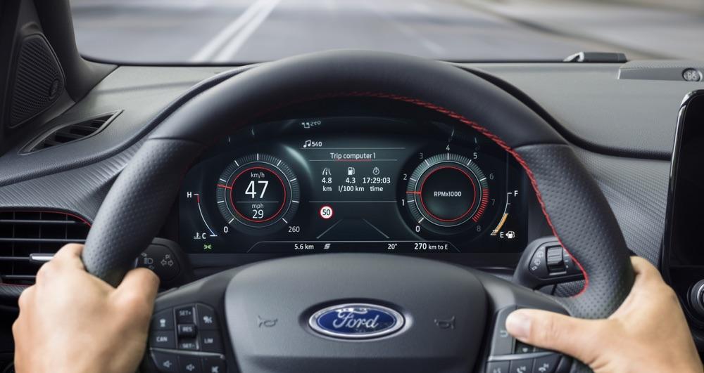 Strumentazione digitale di Ford Puma