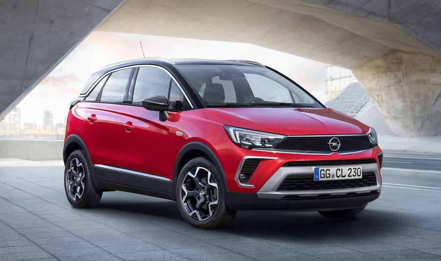 Uscita su strada di Opel Crossland 2021