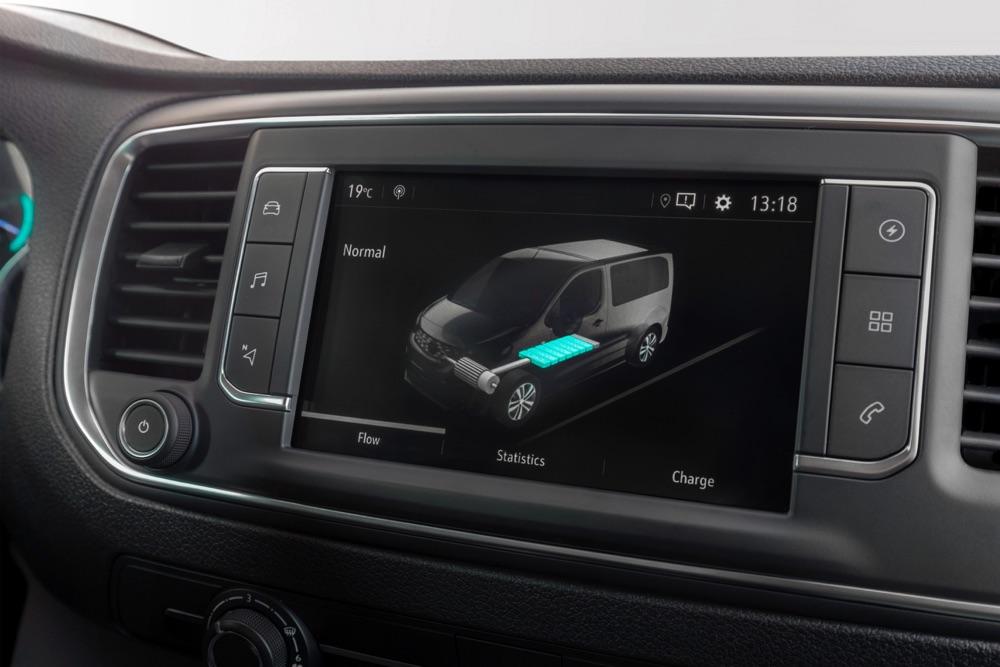 Infotainment di Opel Vivaro-e