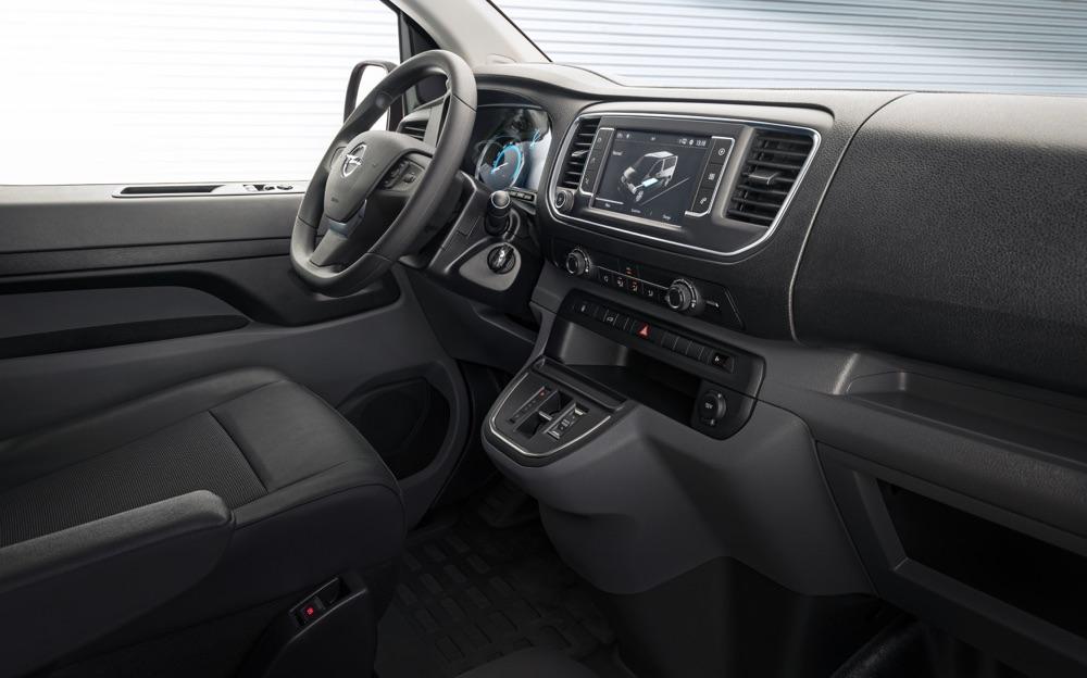 Interni di Opel Vivaro elettrico