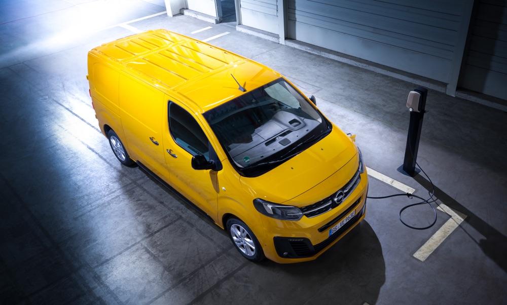 Ricarica di Opel Vivaro-e