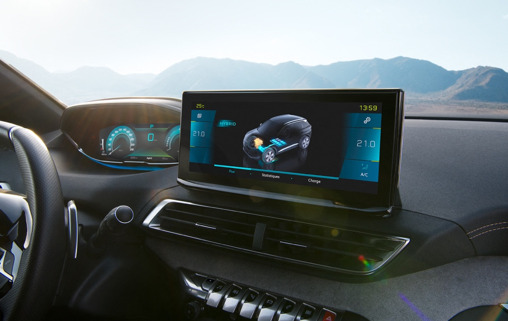 Infotainment di Peugeot 3008 restyling