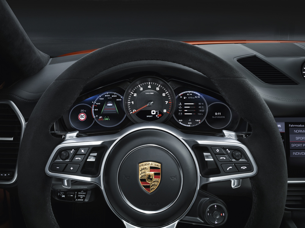Interni di Porsche Cayenne Coupé