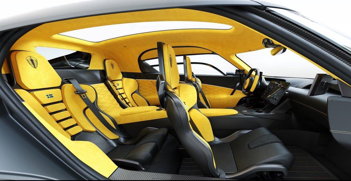 Interni di Koenigsegg Gemera